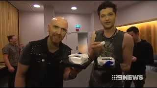 Backstage at Perth Arena with Nine News during The Script