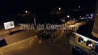 Încheierea festivităților dedicate Zilei armatei. Retragerea cu torțe pe bulevardul Ferdinand, din C