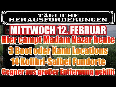 Mittwoch 12. Februar Täglichen Herausforderung Dailys Nazar Red Dead Redemption 2 Online