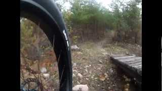 Fat bike Ghost and Mavis Lake Bike Trails. Dryden