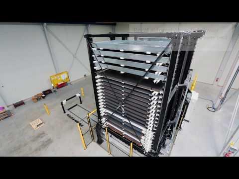 Automatyczny system składowania blach z wycinarką laserową