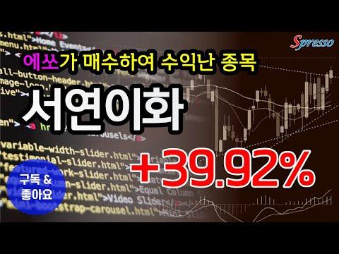 [에쏘추천종목 알아보기]  서연이화 +39.92% 수익실현