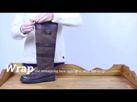 How to barrel knot your Dubarry Galway boots