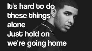 Piano Karaoke/Instrumental - Hold On We're Going Home - Drake with lyrics