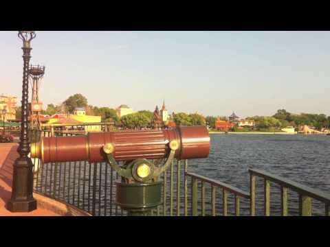 Epcot's World Showcase Lagoon Panorama by PassPorter