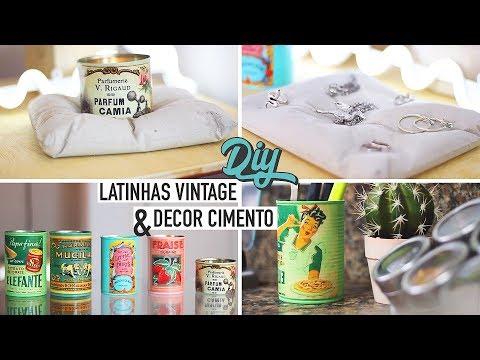 Diy Latinhas Vintage + Decor em Cimento + Velas Perfumadas & Organizador, Bijoux   Maddu Magalhaes
