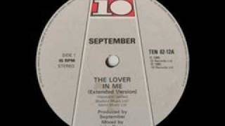 September - The Lover In Me