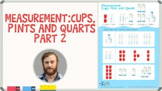 Measurement for Kids - Capacity: Cups, Pints and Quarts - part 2 | Kids Academy