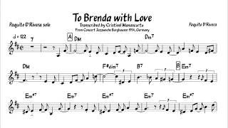 Paquito D'Rivera - To Brenda with Love (transcription)