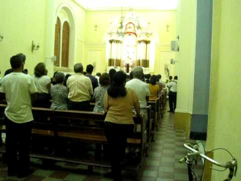Evening mass in Granada, Nicaragua