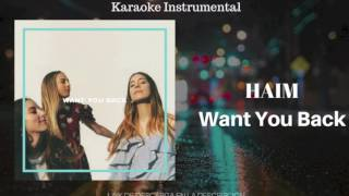 WANT YOU BACK - HAIM (KARAOKE - INSTRUMENTAL - MULTITRACK) 181