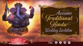 Soulful Traditional Hindu Wedding Invitation Video 2018 | TLV-001