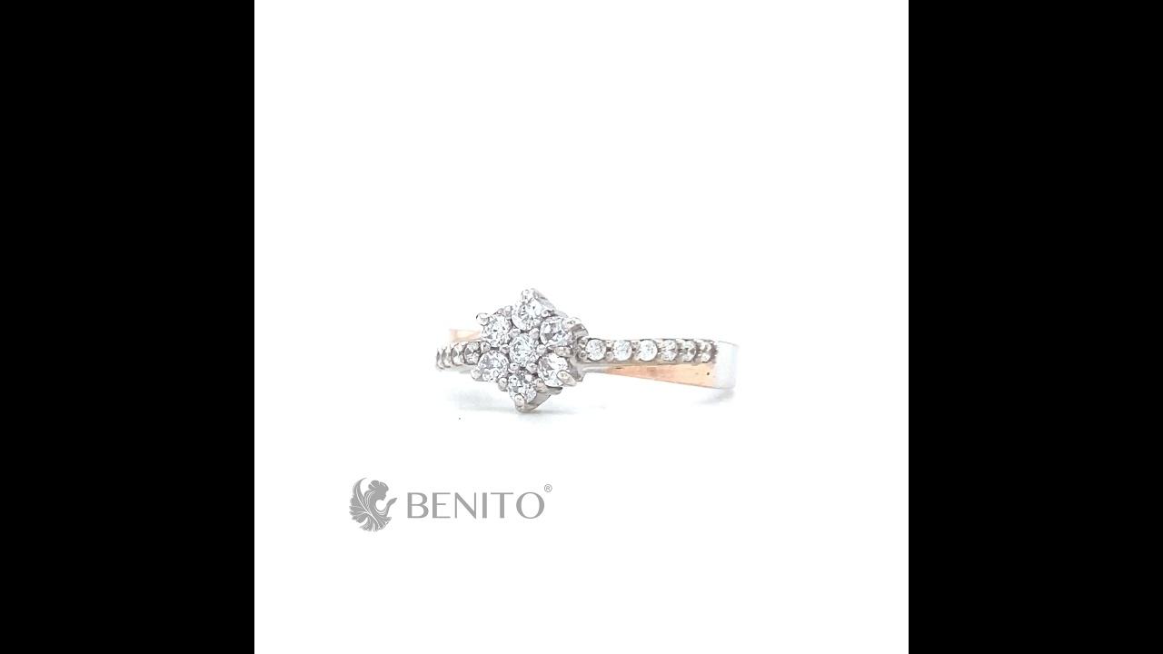 Jennifer Ring White Zircon Stones
