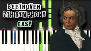 Ludwig Van Beethoven - 7th Symphony - 2nd movement - EASY - Piano Tutorial Synthesia (Download MIDI)
