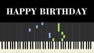 ♪ Easy Piano Tutorial: Happy Birthday