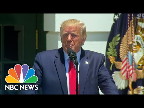 Watch President Donald Trump Take Aim At Democrats' 'Squad': 'They Hate Our Country'   NBC News