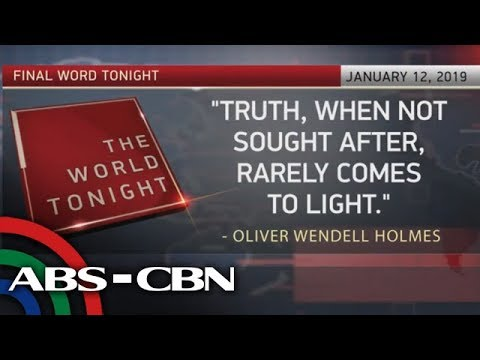 The World Tonight: The Final Word | January 12, 2019