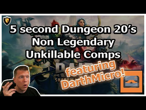 RAID Shadow Legends | 5 second Dungeon 20's | Non Leg Unkillable | feat. DarthMicro!