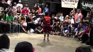Lil' Demon vs. Ark - Semifinals - Bboy City Hawaii 2010