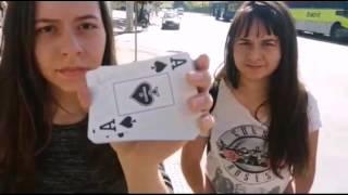 Mágica no centro de Belo Horizonte com cartas -Essa nem o pyong lee faz igual-