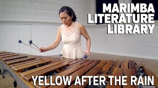 Yellow After The Rain, by Mitchell Peters - Marimba Literature Library