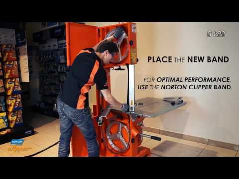 Norton Clipper CB511 Band Saw - How to change the band