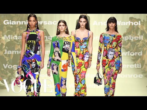 Why Versace's Spring 2018 Tribute Collection Was the Best Show Ever   Vogue