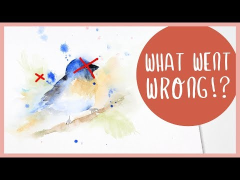 MY BAD ART: Loose Watercolor Bird (& How I Would Fix It)