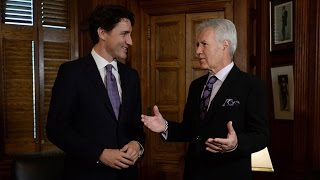 Trudeau and Trebek talk about Canadian contestants on Jeopardy!