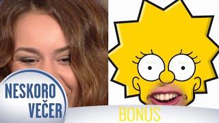 Líza Simpsonová v podaní Dominiky Kavaschovej Neskoro Večer