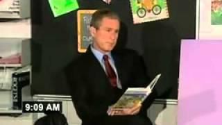 Bush se entera del ataque a las Torres Gemeas