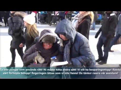 Magnus Andén och Gerd Andéns tal från demonstrationen