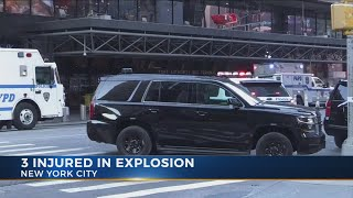 Three injured in pipe bomb explosion in New York
