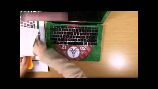 How to apply custom Mac Book skins for the cover inside keyboard and edges by yourself?