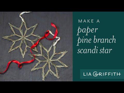 How to Make a Pine Needle Scandi Star
