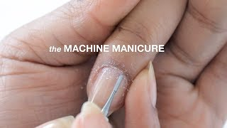 HOW TO MACHINE RUSSIAN MANICURE // abetweene