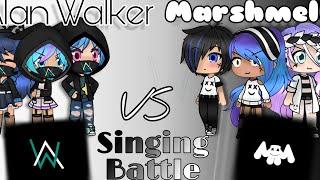 Alan Walker Vs Marshmello Singing Battle   Gacha Life   ( Kinda Part 3?) [ Sorry About Thumbnail]