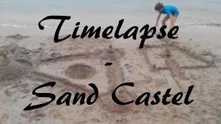 Timelapse - Sand castle  🌴