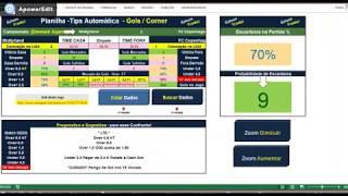 04 - Planilha Gols e Escanteios / Veja Como é fácil e Rápido fazer uma Analise Automatizada.HD