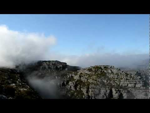 Morning on Table Mountain in Cape Town, South Africa October 2012