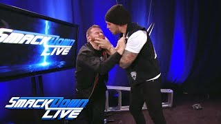 Baron Corbin attacks Sami Zayn: SmackDown LIVE, June 6, 2017