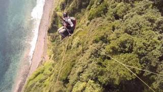 Paragliding Madeira Apr 2017 Descent Fanal Seixal Wingcam