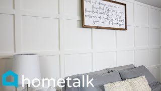 Accent Wall - Totally transform a boring blank wall with this beautiful accent wall idea!   Hometalk