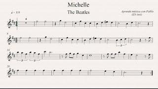 MICHELLE:   Eb Inst (saxo alto, saxo barítono...) (partitura con playback)