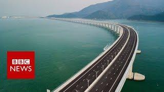 World's longest sea bridge - BBC News