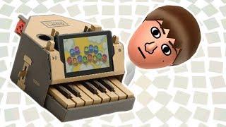 Mii Channel but Nintendo Labo — Making Mii Music on the Labo Piano