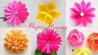 6 Easy Paper Flowers | Flower Making | DIY width=