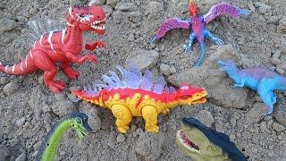 Dinosaurs Mountain Adventure! Learn Dinosaur Names For Kids!