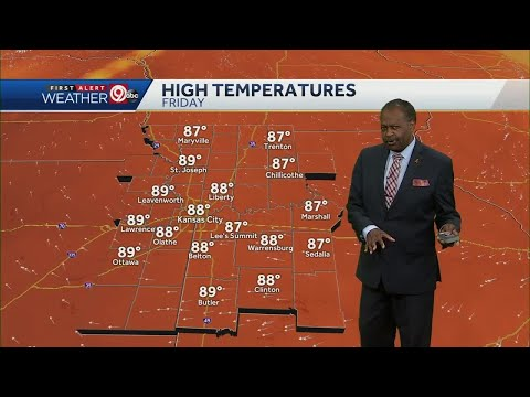 Temps in upper 80s for your Friday