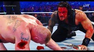 Brock Lesnar VS Roman Reigns Bloodiest Match ever 2018 - FULL MATCH width=
